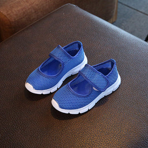 Children Shoes Girls Boys Casual Shoes Summer 2017 Fashion Candy Color Breathable Mesh Kids Sports Shoes Boys Girls Sneakers