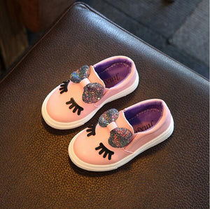 Children Shoes Girls Sneakers New Spring Autumn Cute Bow Fashion Princess Girls Shoes Kids Soft Casual Single Shoes Size 21-36