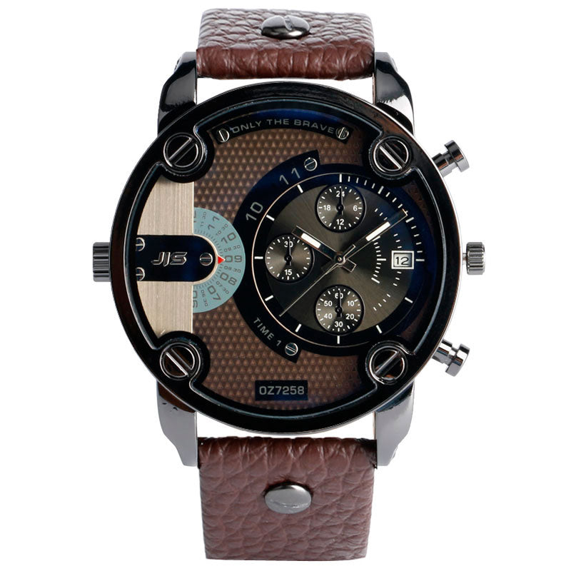Christmas Gift Modern Large Size Watches Men Date Quartz Watch Sports Wristwatch Military Luxury Leather Strap Big Male Clock