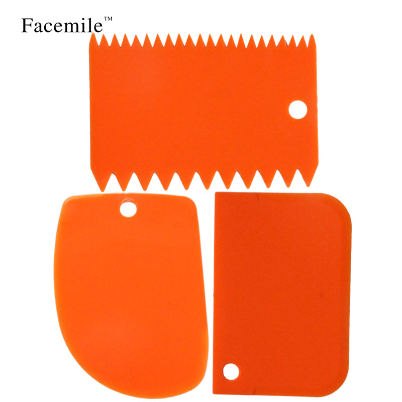Christmas Kitchen Tool Classic Fondant Cake Decorating Tool Multifunction Blade Plastic Cake Smoother Cake Scraper/Spatula Set