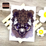 Cool Animals Dragon Wolf Body Art Sexy 21X15CM Tiger Waterproof Temporary Tattoo For Man Woman Henna Fake Flash Tattoo Stickers