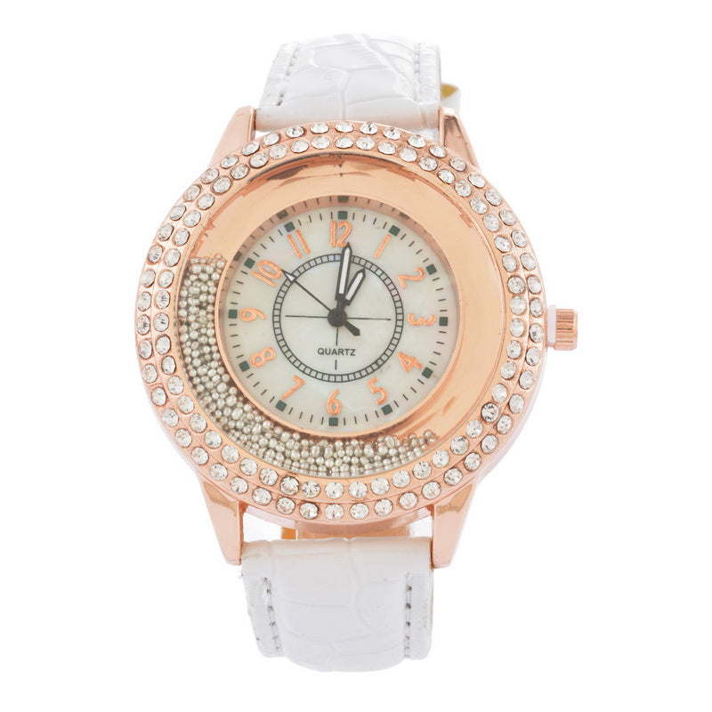 Crystal Rhinestone Brand PU Leather Watches Women Dress Clock Ladies Gifts Quartz Wristwatches Watch Reloj For Girls Fashion