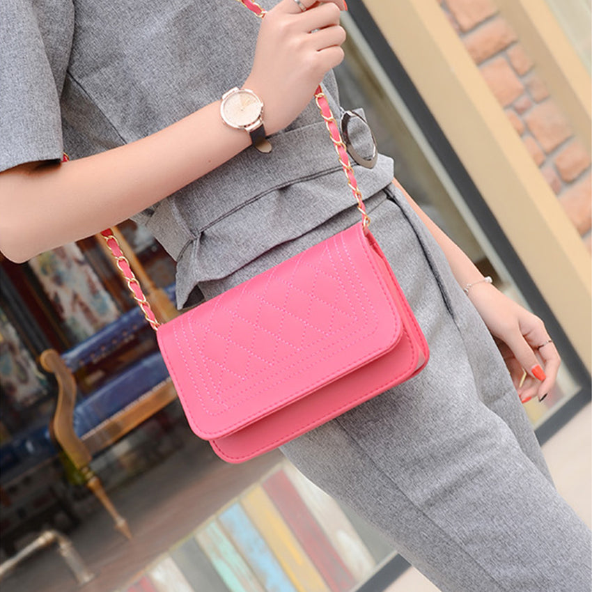 DDUPCY 2017 New women messenger bag Package Small Sweet Wind One Shoulder Han Edition Fashion Female Bags 6 Color