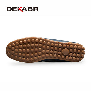 DEKABR Brand Summer Causal Shoes Men Loafers Genuine Leather Moccasins Men Driving Shoes High Quality Flats For Man size 36-47