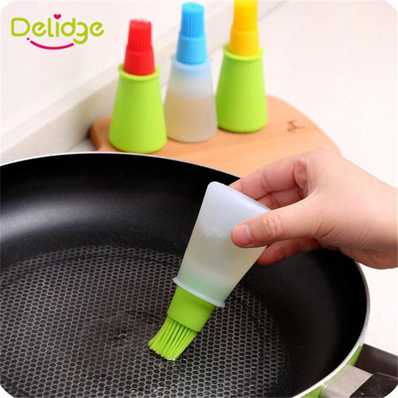 Delidge 1 pc Silicone Oil Brush Baking Brushes Liquid Oil Pen Cake Butter Bread Pastry Brush BBQ Utensil Safety Basting Brush