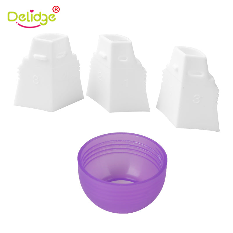 Delidge 1 pcs 3 Holes Cake Decoration Converter Mix 3 Colors Icing Piping Nozzle Converter For Cupcake Nozzle Converter