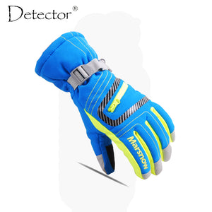 Detector Ski Gloves Snowboard Mens Women Kids Winter Gloves Climbing Cycling High Quality Windproof Waterproof Gloves