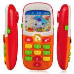 Dewel Electronic Toy Phone For Kids Mobile elephone Educational Learning Toys Music Machine Toy For Children (Color Randomly)