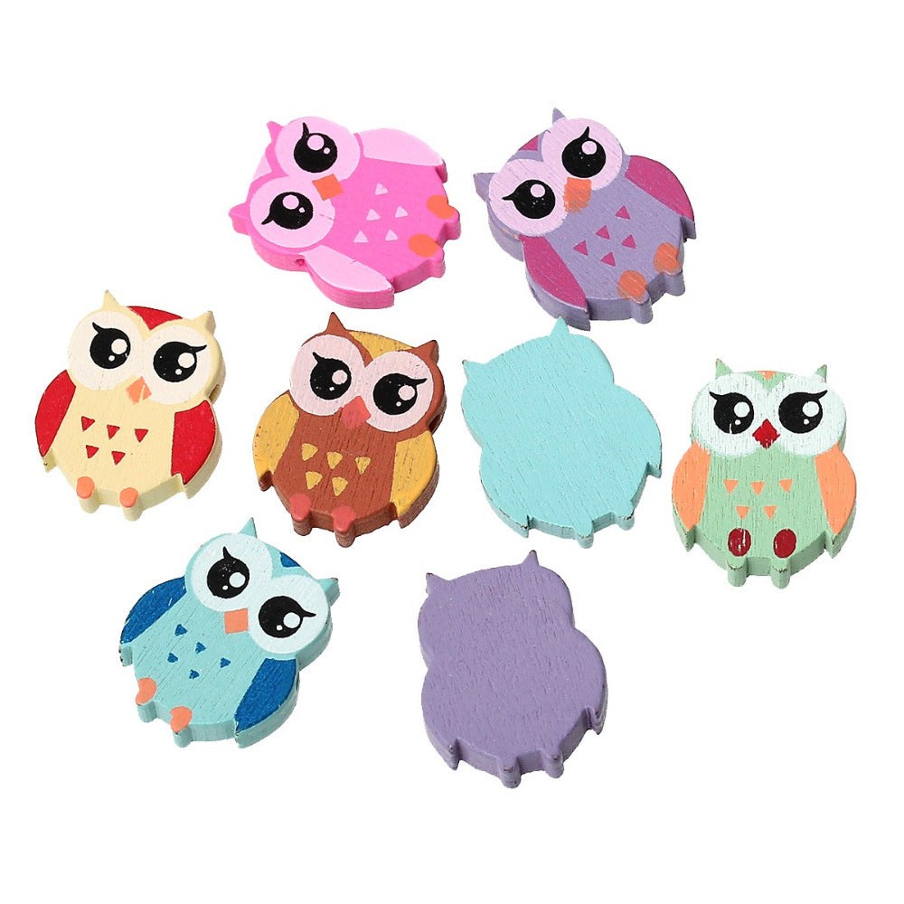 "DoreenBeads Wood Spacer Beads Owl Mixed At Random About 21.0mm( 7/8"") x 18.0mm( 6/8""), Hole: Approx 1.7mm, 8 PCs 2016 Hot new"