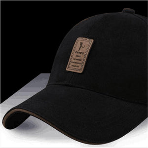 EDIKO And Golf Logo Cotton Baseball Cap Sports Golf Snapback Simple Solid Hats For Men Bone Gorras Casquette Truck driver cap