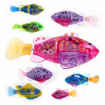 Electronic Fish Robofish Activated Battery Powered Robo Fish Toy Childen Robotic Pet Holiday Gift can Swims