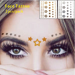 #F05 2 pcs/ Set Forehead Decor Tattoos, Non-toxic And Waterproof Stars Glitter Makeup in Lollapalooza
