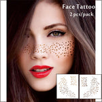 #F06 2 pcs/ Set Cheek Decor Tattoos, Non-toxic And Waterproof Scattered Points Foiled Temporary Tattoo, Glitter Makeup