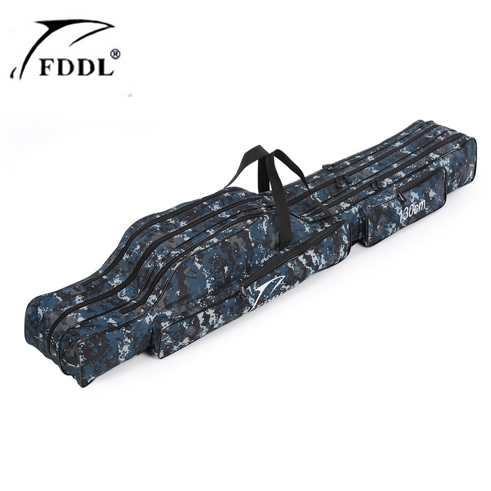 FDDL Portable 2-3 Layer Fishing Bags Folding Fishing Rod Bag Case Fishing Tackle Tools Storage Bag 1.2m 1.3m 1.5m