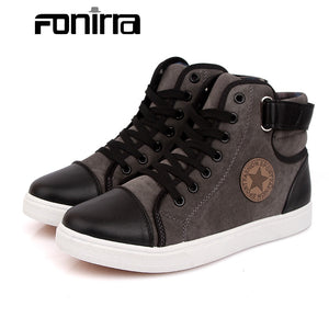 FONIRRA Fashion Men Boots Canvas Men's Shoes Large Size 39-46 British Men's Ankle Spring Autumn Boots Casual Shoes 361