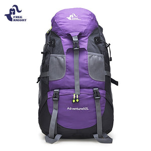 FREEKNIGHT 50L Sport Bag Backpack Outdoor Climbing Rucksack Waterproof Mountaineering Hiking Backpacks Molle Camping Bag 5 Color