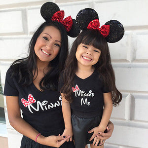 Family Clothes Mother Daughter T Shirt Womens Kids Girls Blouse Tops Tee