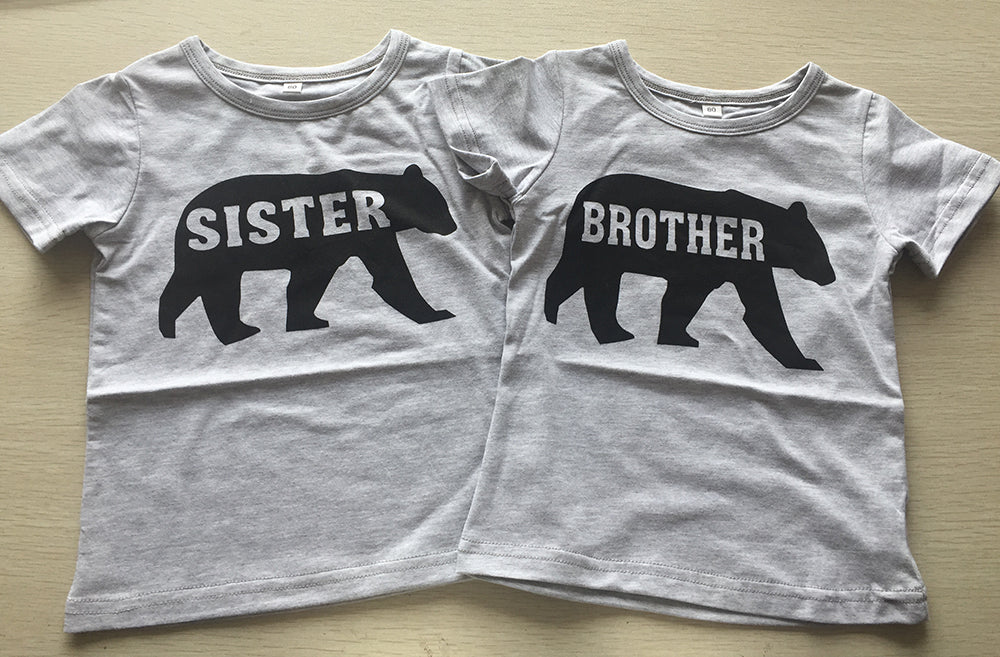 Family Matching Outfits Brother Sister Clothes Casual Family t shirt Summer Short Sleeve Boys Girls Top Tees 2017 Family Look