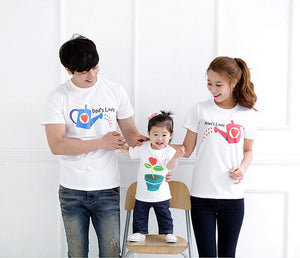 Family set cultivate Love Summer Short-sleeve T-shirt Matching Family Clothing Outfits For Mother Daughter And Father Son