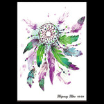 Fantasy 1 Sheet Dreamcatcher Tatoo Temporary Sticker HB634 Fake DIY Dream Catcher Feather Decal Women Body Art Waterproof Tattoo