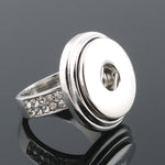 Fashion 4 Size 18mm Xinnver Snaps Buttons Rings Crystal Jewelry ZH035