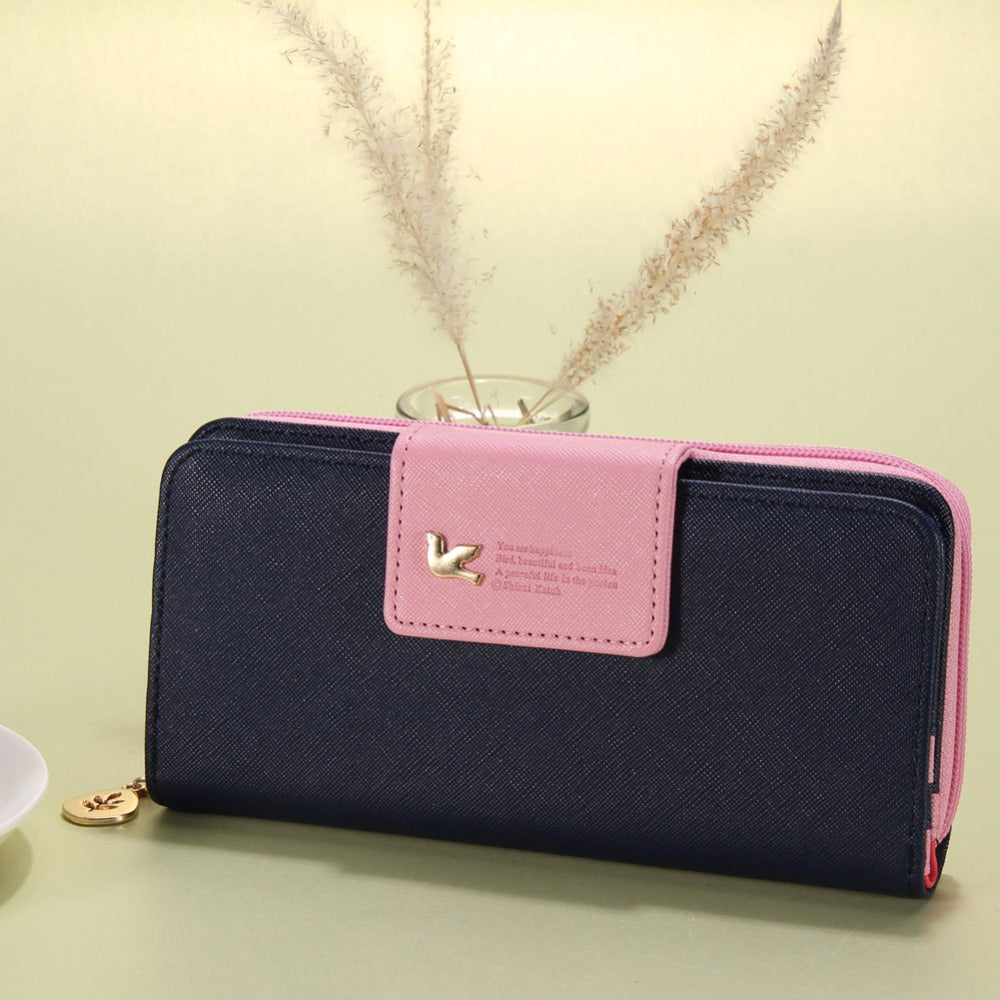 Fashion Women Wallets Brand PU Leather Long Leather Women Clutch Bag Hasp Zipper Wallet Card Holders Clutch Money Bag Carteira