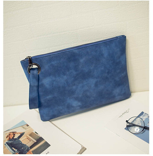 Fashion solid women's clutch bag leather women envelope bag clutch evening bag female Clutches Handbag Immediately shipping
