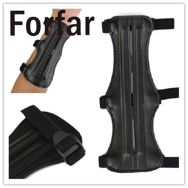 Forfar Leather 3 Strap Target Archery Arm Guard Safety Protection Gear Outdoor Hunting