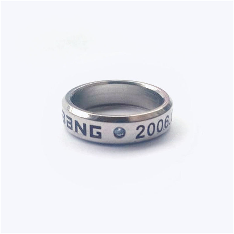 Free Shipping Korea POP Bigbang Rings Women G-DRAGON TOP T.O.P Daesung Ring With Chain Free C0001