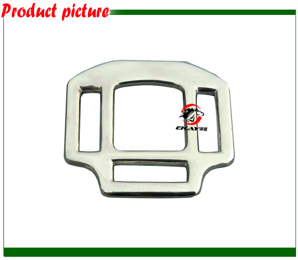 "Free shipping 1"" Zinc die cast halter square with three slots.(BKZ8069)"