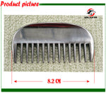 Free shipping Aluminum horse comb ,hand polished.Never rusted horse product(CB9059)