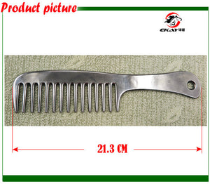 Free shipping Aluminum horse comb,pet's comb ,hand polished,metal comb,horse care product.(CB9051)