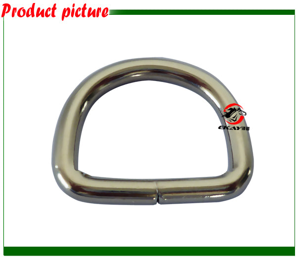 "Free shipping Nickle plated D ring,5MM X 1"",horse halter metals(BK8117NP)"
