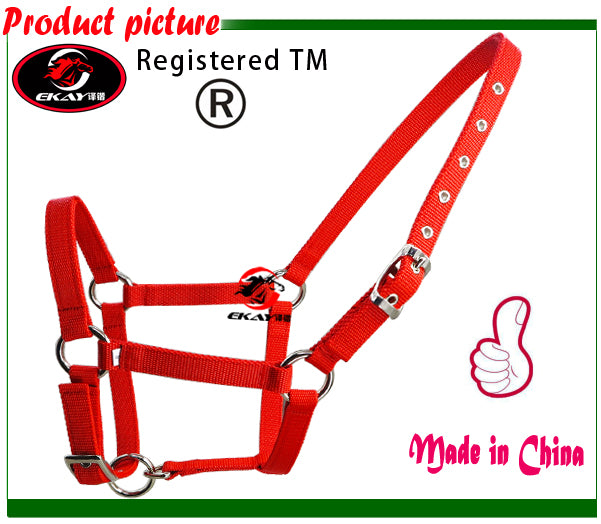 Free shipping horse /donkey halter,metal eyelet,21MM wide &5MM thick PP webbing.(RLT1001)