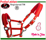 Free shipping horse halter,metal eyelet,sponge inside cushion makes it comfortable to wear (RLT1006)