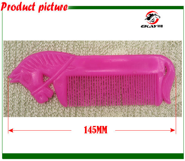 Free shipping plastic horse shaped comb,assorted colors(CB5004)
