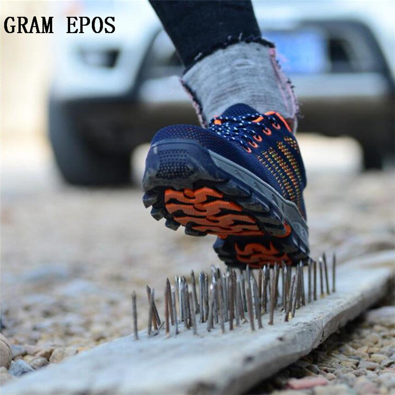 GRAM EPOS Unisex Couple Boots Men Work Safety Shoes Steel Toe Cap For Anti-Smash Puncture Proof Breathable Protect Footwear