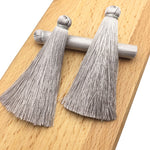 GUFEATHER L20/7CM/tassels/earrings accessories/Silk tassels/jewelry accessories/jewelry findings/jewelry materials 5pcs/bag