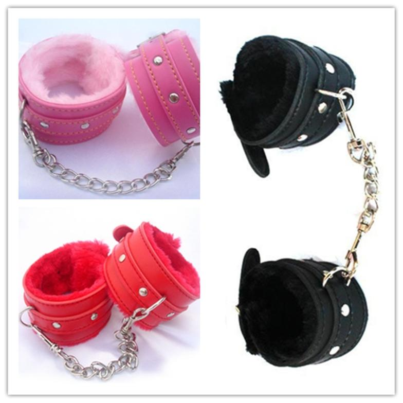 Garcinia Cambogia 1pair Comfy Sexy Toy Plush Handcuffs Pu Leather Bondage Toys Products Flirt Tools 3 Color CX673056