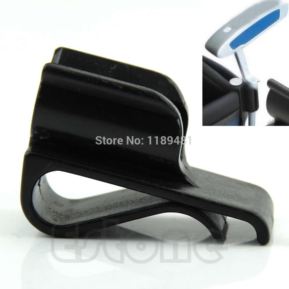 Golf Bag Clip On Putter Putting Organizer Club Durable Ball Marker Clamp Holder