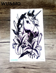 Green tattoo stickers personalized fashion color Unicorn tattoo tattoo stickers wholesale custom MC-697 WU&MO