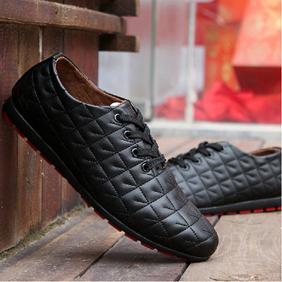 HOT Men Summer Shoes Men Fresh Ventilate Men's Shoes Casual Lace up Loafers Slip on PU Leather Men's Flats Free Shipping LS104