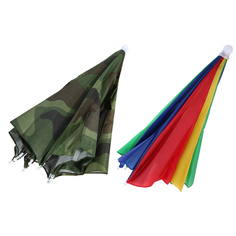 d2fa3f35 Hands Free Portable 55cm Usefull Umbrella Hat Sun Shade Camping Fishing  Hiking Festivals Outdoor Brolly 2