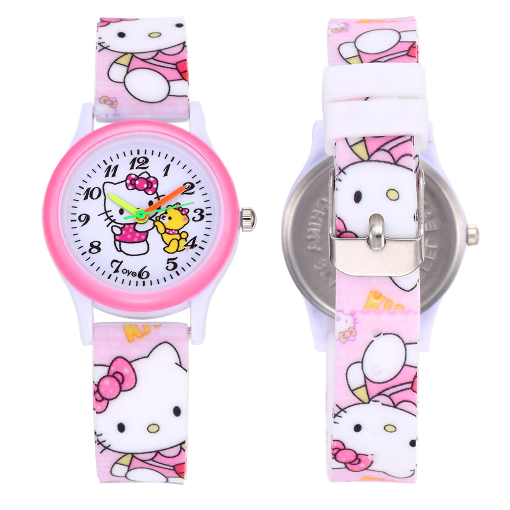 pu dropshipping variants brand cartoon watchband fashion product watch leather watches frozen girls top quartz white children disney