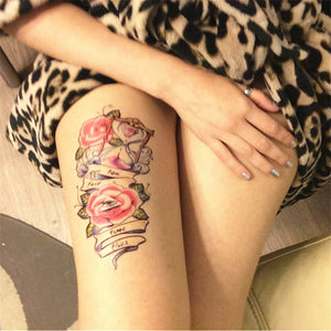 Henna Tattoo Sticker 2PCS Temporary Tattoo Waterproof Tattoo Sleeve Transfer Tattoo Supplies