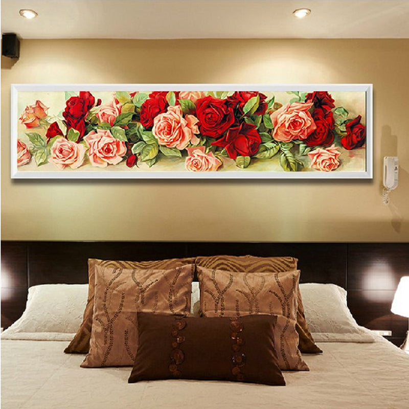 Home Decoration Diamond Painting rhinestone Cross Stitch rose flower Diy Diamond Embroidery Floral Diamond Mosaic Wall Decor