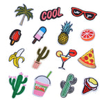Hoomall 14PCs Mixed Iron On Patches For Clothing Embroidery Patch Summer Fabric Badge Stickers For Clothes Jeans Decoration