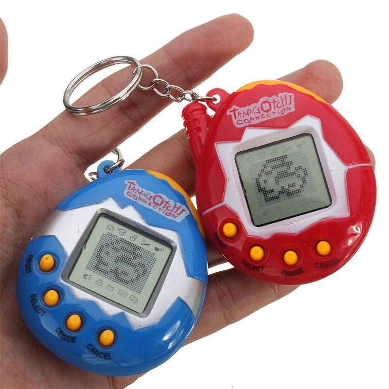 Hot 1 Pcs Electronic Digital Pet Games Machine Funny E-pet Kids Toys Handheld with Retro Nostalgic Key chain Christmas Gifts