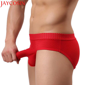 Hot Men's Sexy Underwear U convex design Smooth Long Bulge Pouch Shorts Briefs clothes S,M,L H20 Drop Shipping H21