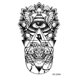 Hot New Eye of God Totem Waterproof Tattoo Sticker for Body Flash Tattoo Fake Stickers